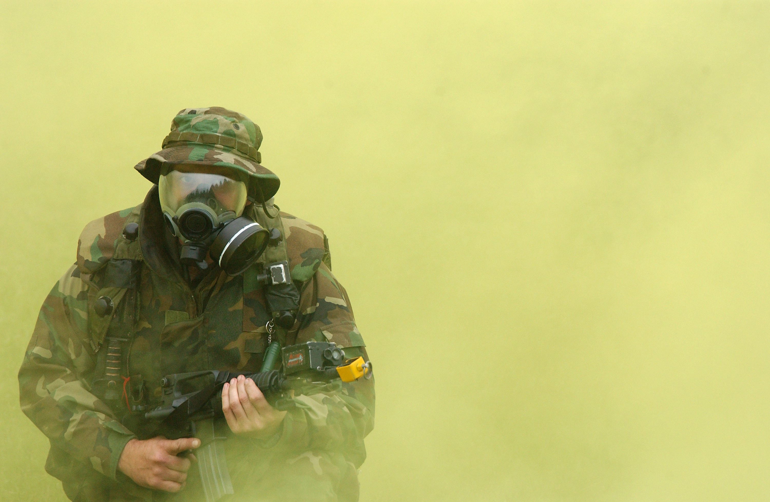 US Navy gas mask excerise