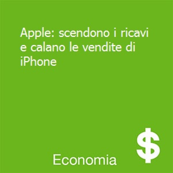Apple: calano i ricavi