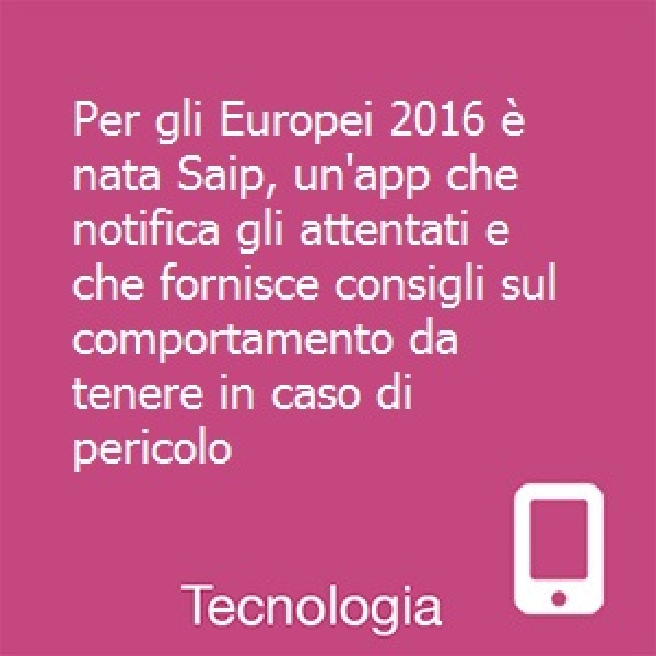 Europei 2016: un'app che notifica gli attentati